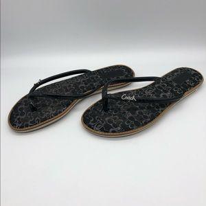 Coach Shoes - COACH Flip Flop Sandals Black Sz 9